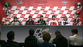 The fastest riders from MotoGP talk to the press.