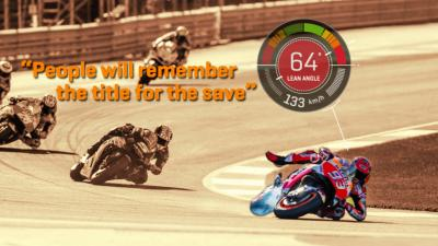 Watch Marquez's unreal Valencia save with on-board data!