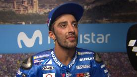 The Suzuki Ecstar rider planned his tactics well and gave it his all, outrunning his own teammate to step onto the podium in Aragon