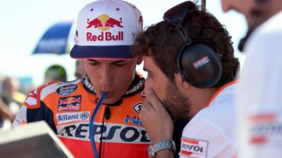 Why did Marquez go for the soft rear at the last moment?